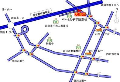 大池中学校付近の地図